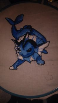 Vaporeon needle point by silent-mage