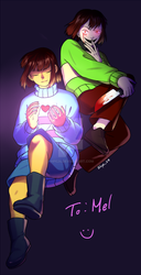 Frisk and Chara by HPE24