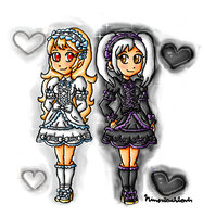 black and white avatars by ninpeachlover