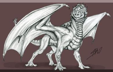 Dream Bestiary #23: Red Drake by EvilSaintGood