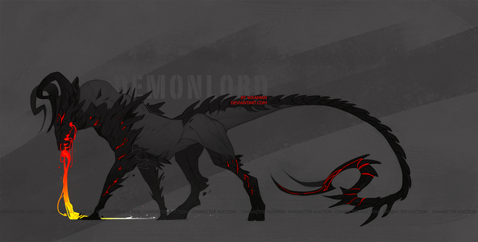 Demonlord - character design by WXaman