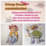 Doodle commissions $3-8 by Marwoods