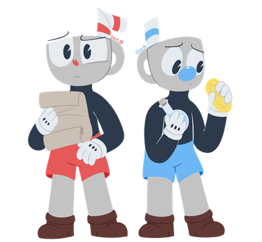 hey cuphead? yes mugman? by 123abcdrawwithme