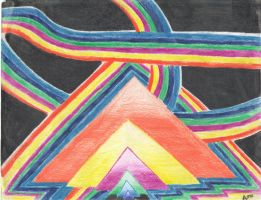 Colored Pencil abstract by alexsalinasiii