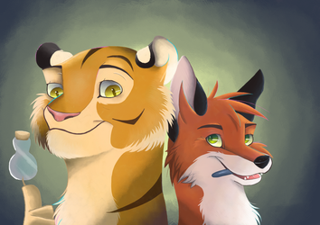 The fox and the tiger by FigoFox