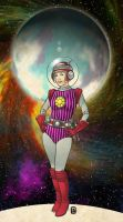 Space Girl Colour by handtoeye
