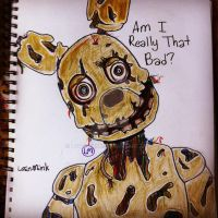 Fnaf3 Doodle of Spring Trap C: by lotusmink
