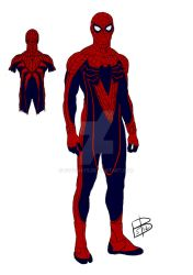 Spider-Man redesign sketch and color by guygar79
