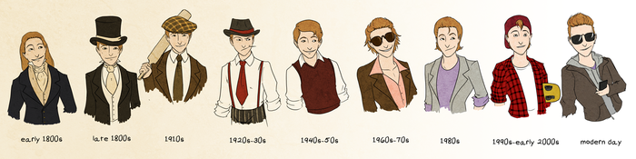 Elgin in Different Eras by Le-RenardRoux