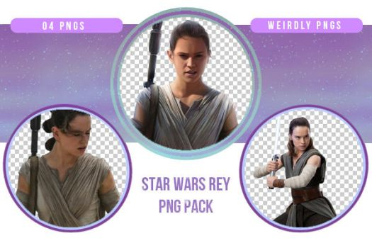 Star Wars Rey PNG Pack by Weirdly-PNGS