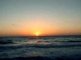 Sunset at sea. by bibarry