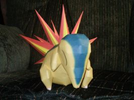 Cyndaquil Papercraft by Skeleman
