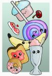 Cute foods design by Beatrix-White