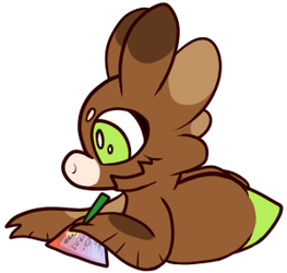 Writing that note -Weekly Prompt- by Driverscissors