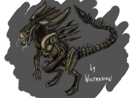 Predalien Queen Concept. by wolfmarian