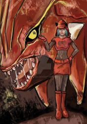 Groudon and Team Magma by Itqual