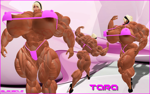 MUSCLE DIVA TARA double feature 2 by SLMUSCLE