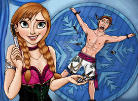 Disney Circus - Anna (and Hans) by HLRose