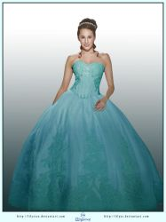 Turquoise Dress Ball Gown by LilyStox