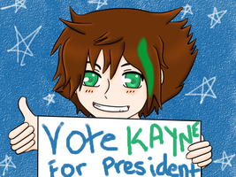 Vote Kayne For Class President! by coracat