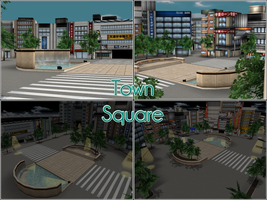 Town Square by kaahgomedl