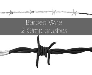Barbed wire brush by Cat-in-the-Stock