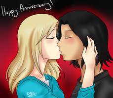 2nd Year Anniversary! by DragonYoukaiKanaChan