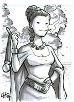 Ceremonial Leia Sketchcard by stratosmacca