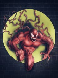 symbiote OC Called Savage  by Sandy-reaper