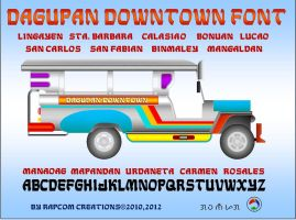 Dagupan Downtown Font by renpaga
