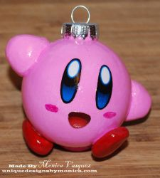 Kirby Ornament by UniqueDesignByMonica