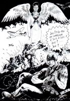 DND Paris : Tribute to Joe Kubert by emalterre