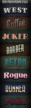 Retro-Vintage Text Styles 2 by nexion218