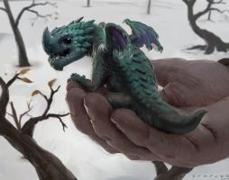Another Dragon by StaplesART