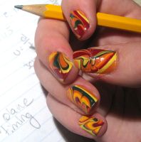 Fall Water Marble by WaterLily-Gems