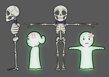 'The Ghost Next Door' Character Reference Art by captainslam