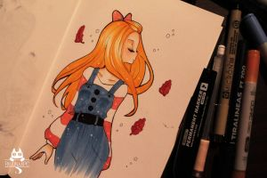 Inktober  2015 Day 8 by Paulinaapc