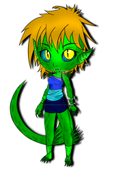 :.A.: Reptile girl by SuperSonic3
