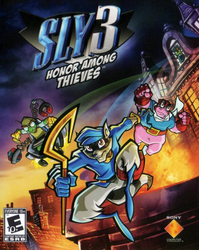 Sly Cooper 3: Honor Among Thieves cover art by skullbabyland