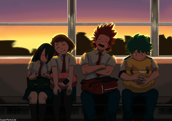 The Tired Interns (Boku no Hero Academia) by SuperPartyCat