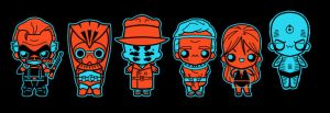 chibi watchmen by marisolivier