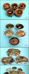 Misc 1:12 Koi Ponds and Containers by PepperTreeArt