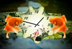 Gold Fish Time for xwidget by Jimking