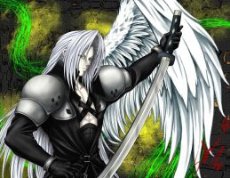Sephiroth 3 -color by Setsuna-Yagami