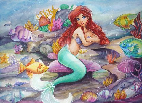 Ariel Mermaid by Sakuems