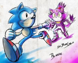 One Hour Sonic 009 - Sonic and Blaze by ElsonWong