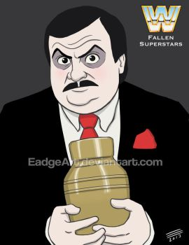 WWE Fallen Superstars: Paul Bearer by EadgeArt
