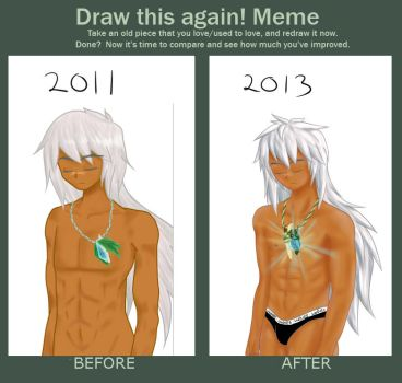 drawing progress -Draw This again! meme by icy-ciel