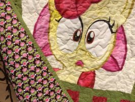 Apple Bloom Quilt Detail by reluctantbrony