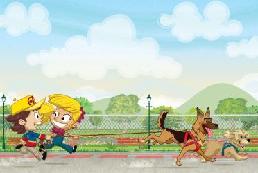 Taking the dogs out for a walk by alexmax